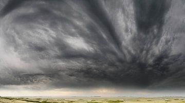 Storm op komst aan de Nederlandse kust van Paul Wendels