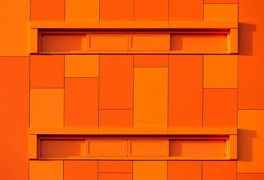 Oranje abstractie  van Sander van der Werf