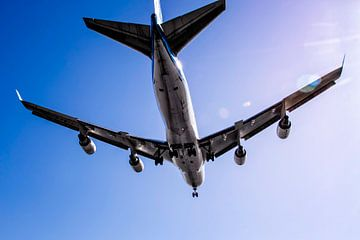KLM Boeing 747 overhead van Aron van Oort