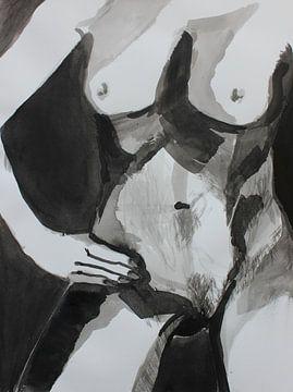 naakt torso van een stoere vrouw van Maartje Kaper