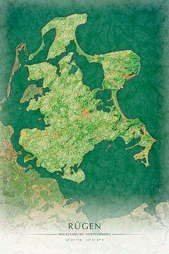 Rügen I - malerische Illustration Inselkarte von Matthias Edition