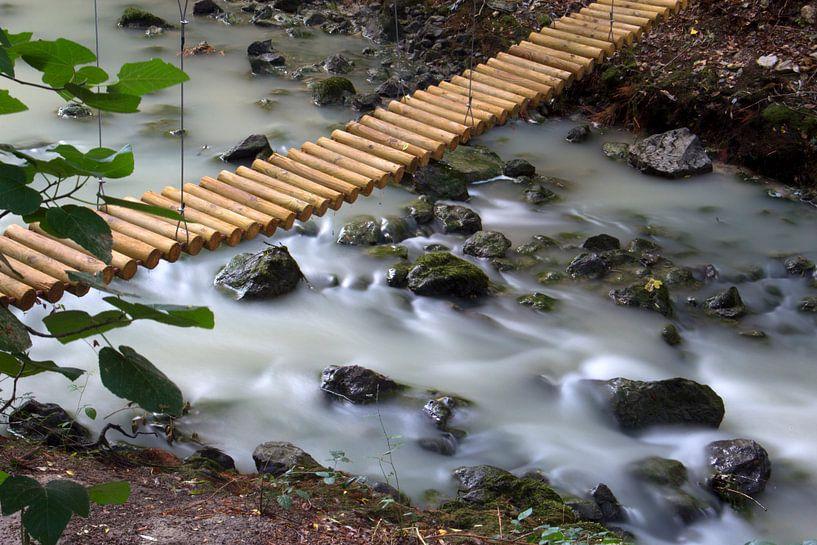 The Wooden Bridge van Cornelis (Cees) Cornelissen
