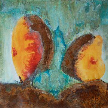 Zwei Steinköpfe von Klaus Heidecker