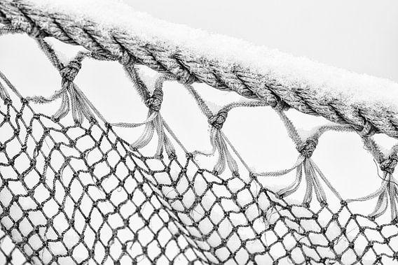 Close up visnet - Close up fishing net van Jurjen Veerman