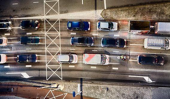 Rotterdam weg (kleur) van Rob van der Teen