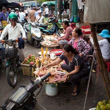 Marktdag in Vietnam van t.ART