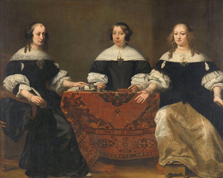Portretten van drie regentessen van het leprozenhuis in Amsterdam, Ferdinand Bol van Meesterlijcke Meesters