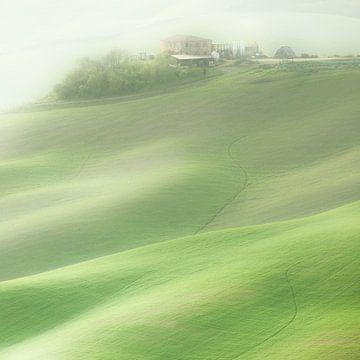 Haus auf dem Hügel - Toskana, Italien von Bas Meelker