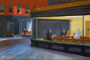 Nachtschwärmer (Nighthawks) - Edward Hoppers von