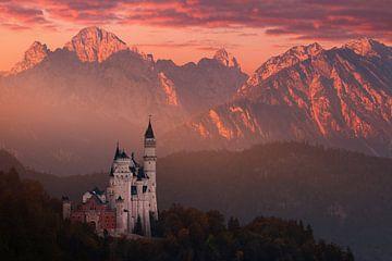 Red ochtend boven het kasteel, Daniel Řeřicha van 1x