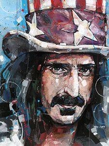 Frank Zappa schilderij van Jos Hoppenbrouwers