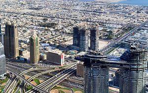 Luchtfoto van de stad Dubai van MPfoto71