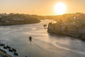 Porto bij zonsondergang.