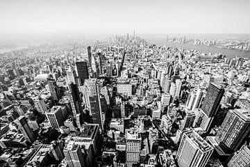 Vue depuis l'Empire State Building sur Eddy Westdijk