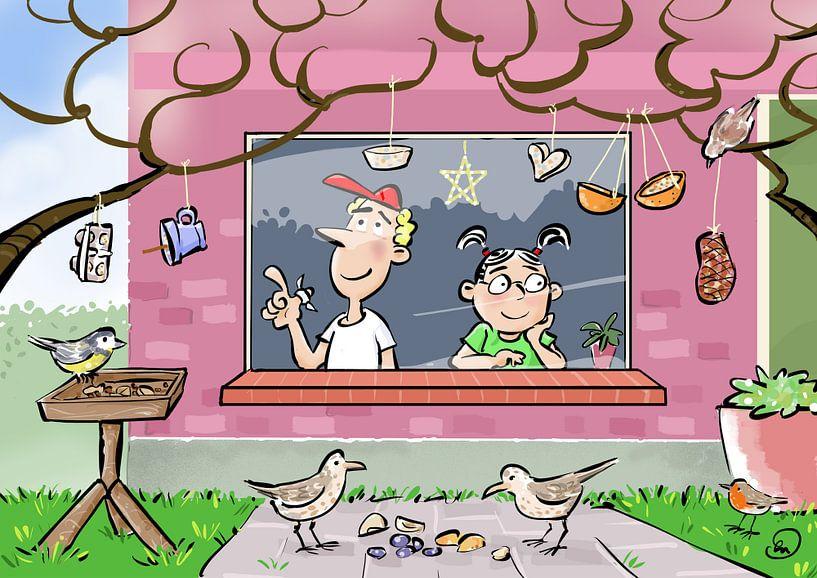 Vögel füttern von Herman Nauta