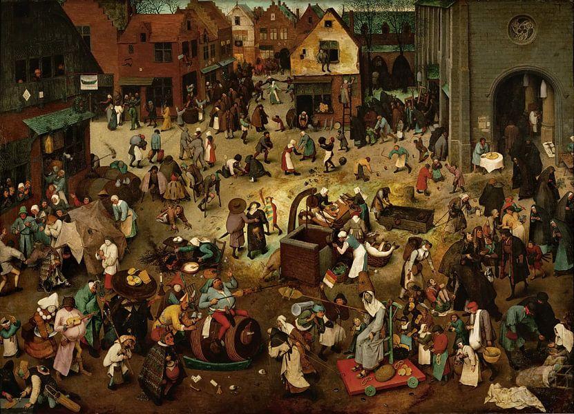 De strijd tussen Carnaval en Vasten, Pieter Bruegel