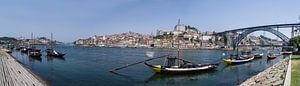 Panorama Porto vanaf de overkant richting de volkswijk Ribeira