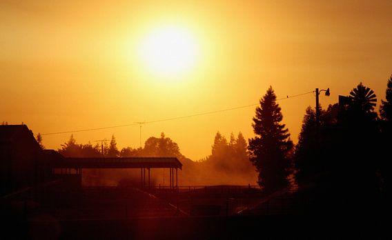 Zonsondergang tijdens roadtrip van Jasper Hovenga