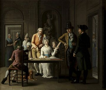 Die Zeichenstunde der Anna Charlotte Didier de Boncour, Willem Bartel van der Kooi