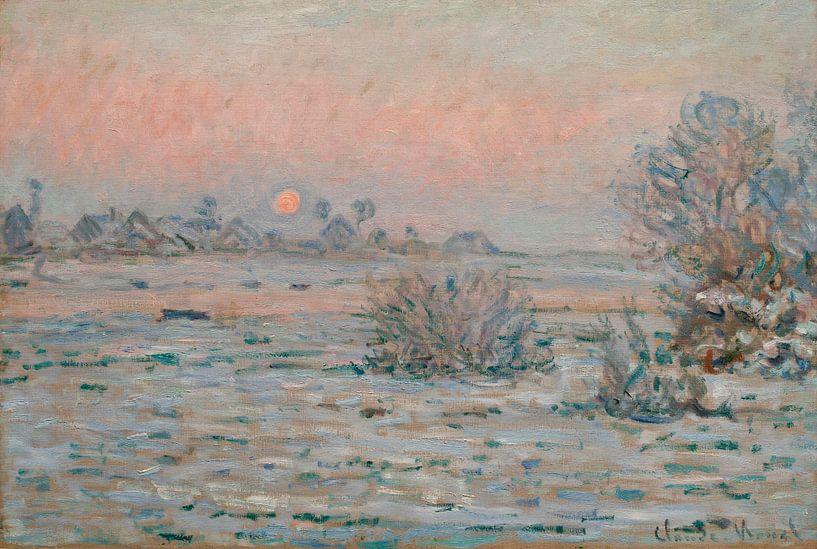 Winterzon bij Lavacourt, Claude Monet van Meesterlijcke Meesters
