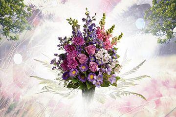 Bloemen op hun mooist (stilleven) van Bert Hooijer
