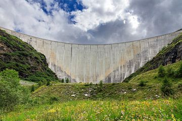 Dam Lac de Moiry Zwitserland van