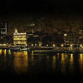Rotterdam bij nacht van Carla van Zomeren