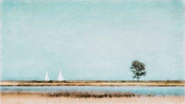 2 Segelboote und der Baum van Heiko Westphalen