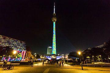 Fernsehturm auf dem Alexanderplatz in besonderem Licht von Frank Herrmann