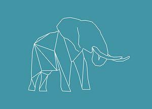Elefant - Grafische Tiere