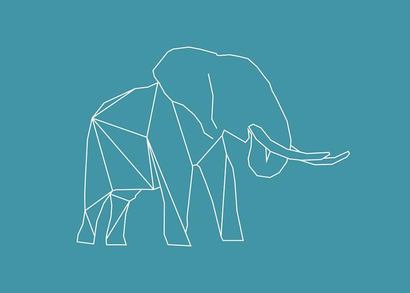 Elefant - Grafische Tiere von Dieuwertje en Kevin van der Linden - Meijer