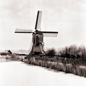 Molen in de polder sur Rob van der Teen