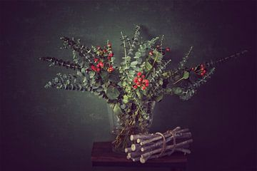 Stillleben Vase mit Blumen von Consala van  der Griend