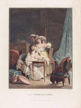 Der Vergleich, Jean-François Janinet, 1786 von Atelier Liesjes