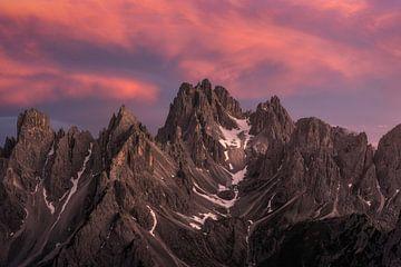 Dolomieten Italië Zonsondergang van Vincent Fennis