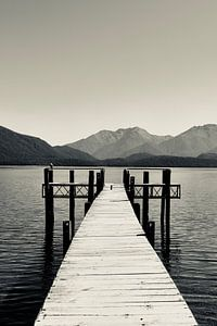 Repos à Te Anau - Nouvelle-Zélande (Noir - Blanc)
