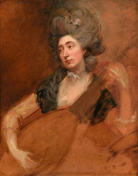 Margaret Gainsborough mit einer Theorbe, Thomas Gainsborough