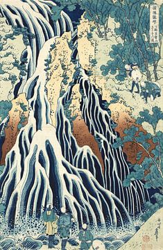 Der Kirifuri-Wasserfall am Kurokami Berg, Hokusai