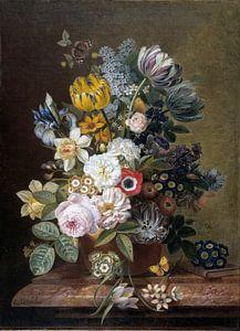 Stilleven met bloemen, Eelke Jelles Eelkema van