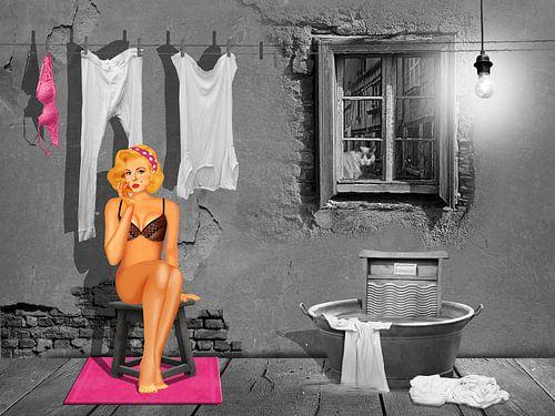 Waschfrau gesucht  von