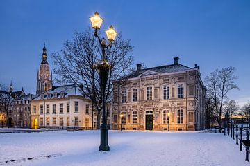Besneeuwd Kasteelplein Breda