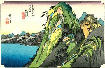 Hakone van Hiroshige von Woodblock Prints