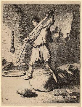 Rembrandt van Rijn La Décapitation de Saint Jean Baptiste