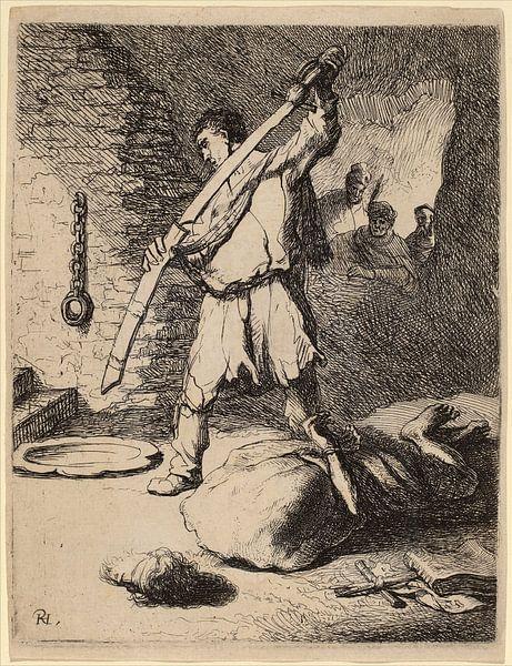 Rembrandt van Rijn Onthoofding van Johannes de Doper van Rembrandt van Rijn