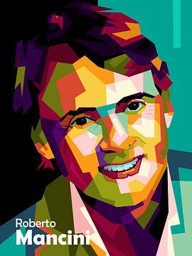 Roberto Mancini dans popart sur miru arts