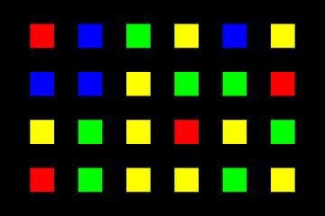 Nested | Center | 06x04 | N=01 | Random #04 | RGBY van Gerhard Haberern