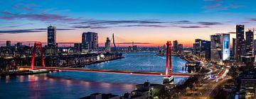 Rotterdam Skyline Maasbruggen van Midi010 Fotografie