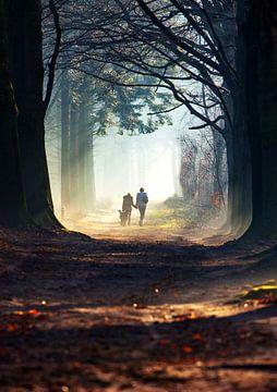 Bos wandeling sur Frans Deeders