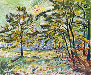 Zon in de herfst, THEO VON BROCKHUSEN, 1916 van Atelier Liesjes