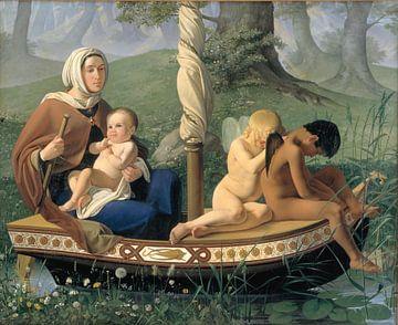 Ditlev Blunck - Kindertijd. uit de serie de vier tijdperken van de mens - 1845 (1/4) van Atelier Liesjes